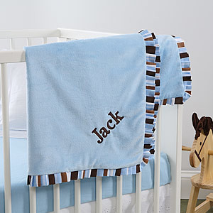 best embroidered baby blankets