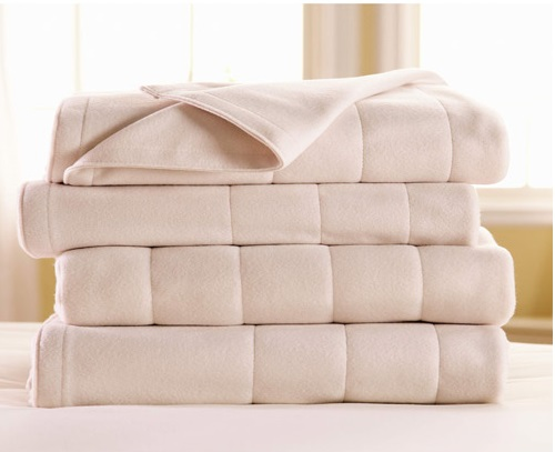 White Sunbeam Fleece Electric Blanket