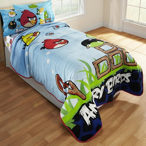 Angry Birds Kids Blankets And Throws