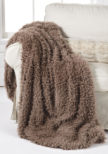 Animal Print Faux Fur Throw Blanket
