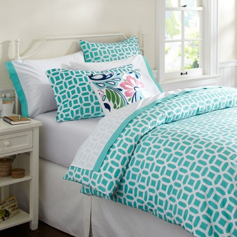How to match best colors for turquoise bedding sunbeam for Best color bed sheets