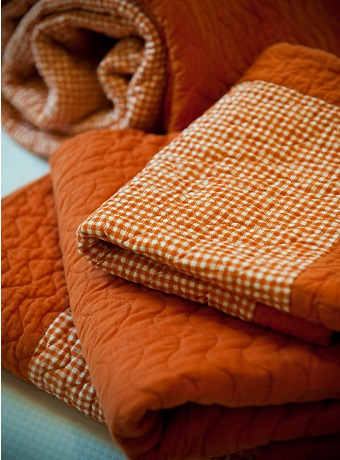 Buy An Orange Coral Throw Blanket