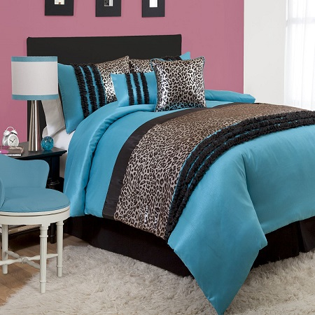 Classic Black And Teal Bedding For Couple