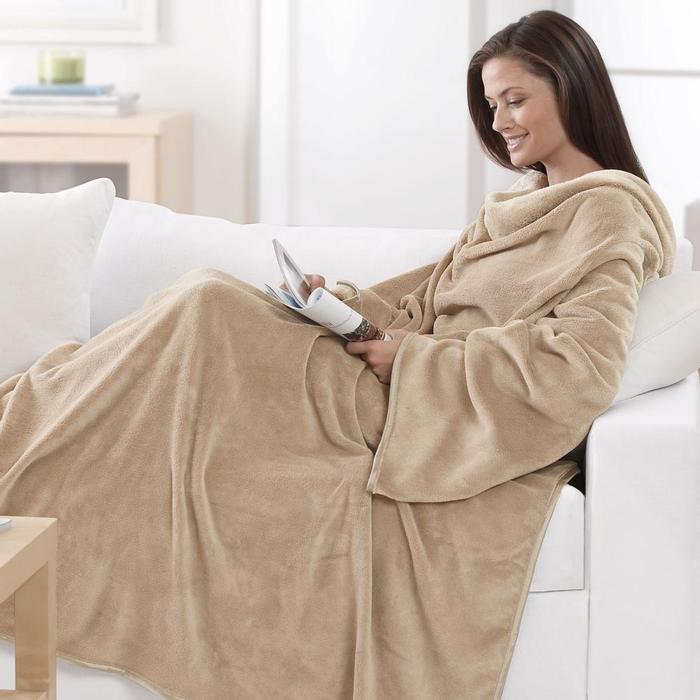 Comfy Heated Blanket With Sleeves