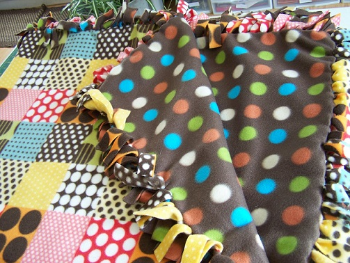 Diy No Sew Fleece Throw