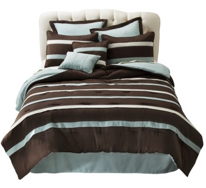 Luxurious Brown And Teal Bedding