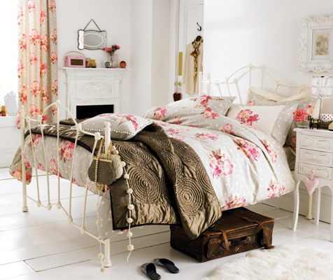 Pink Girls Vintage Bedding Sets