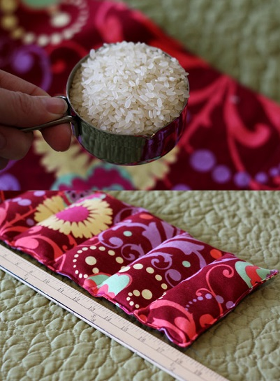 Quick And Easy Rice Bag Heating Pad Tutorial
