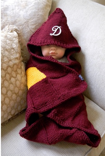 Red Harry Potter Blanket With Sleeves
