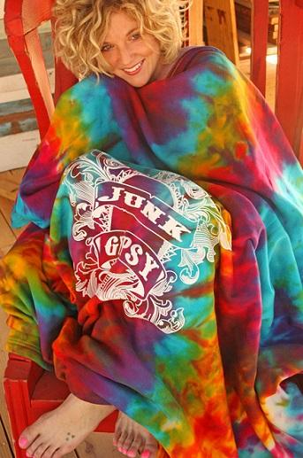 Tie Dye Sweatshirt Blanket