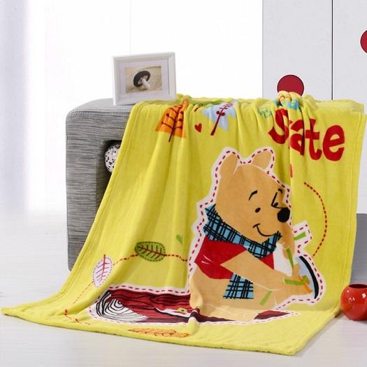 Winnie The Pooh Fleece Kids Blankets