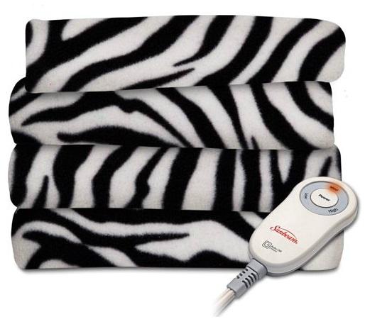 Zebra Style Sunbeam Heat Blanket