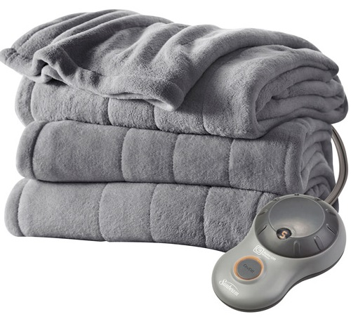 Get Gray Sunbeam Electric Blanket